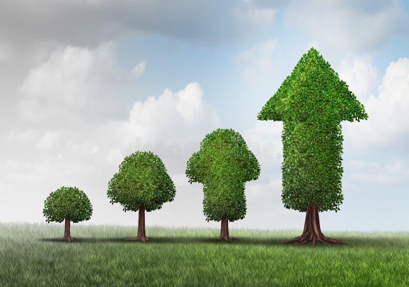 Konzept des wachsenden Erfolgs stock abbildung