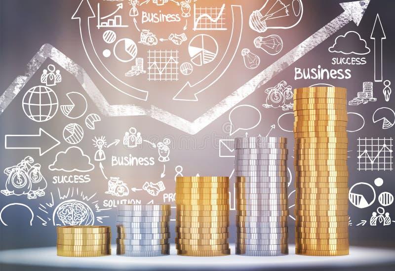 Konzept des Werdens wohlhabend lizenzfreies stockfoto
