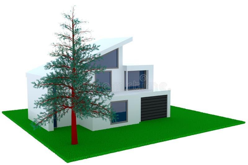 Captivating Download Konzept Des Zeitgenössischen Hauses Mit Garage Stock Abbildung    Illustration Von Struktur, Zustand: