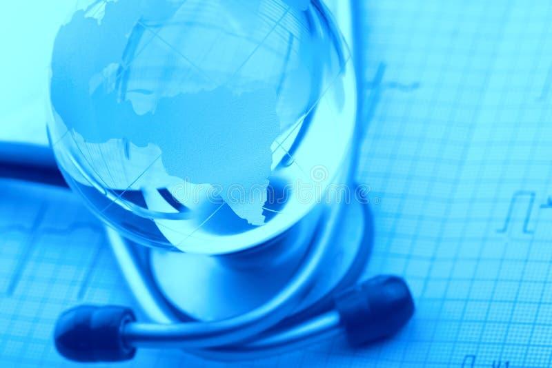 Konzept eine Welt von gefährlichen Krankheiten stockfoto
