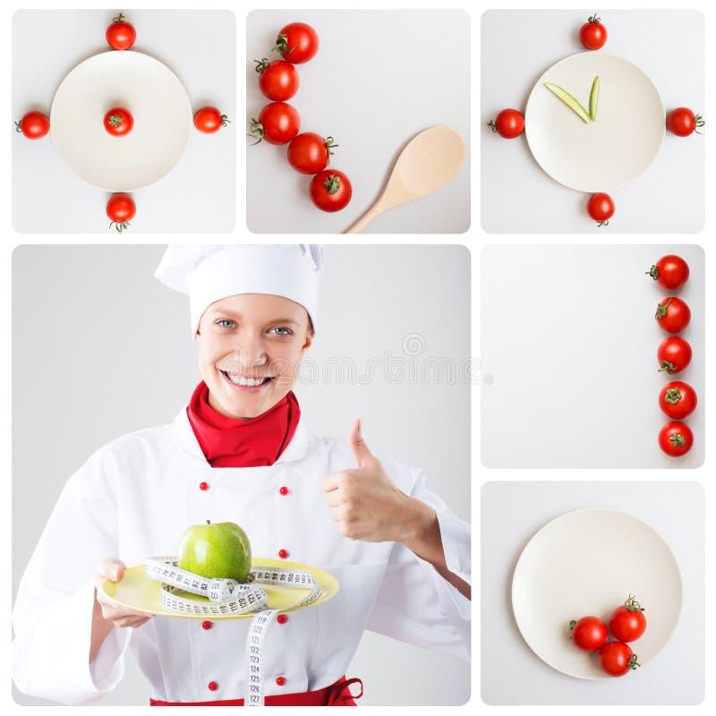 Konzept einer gesunden Diät Diät, Nahrung, Gewichtsverlust lizenzfreies stockfoto