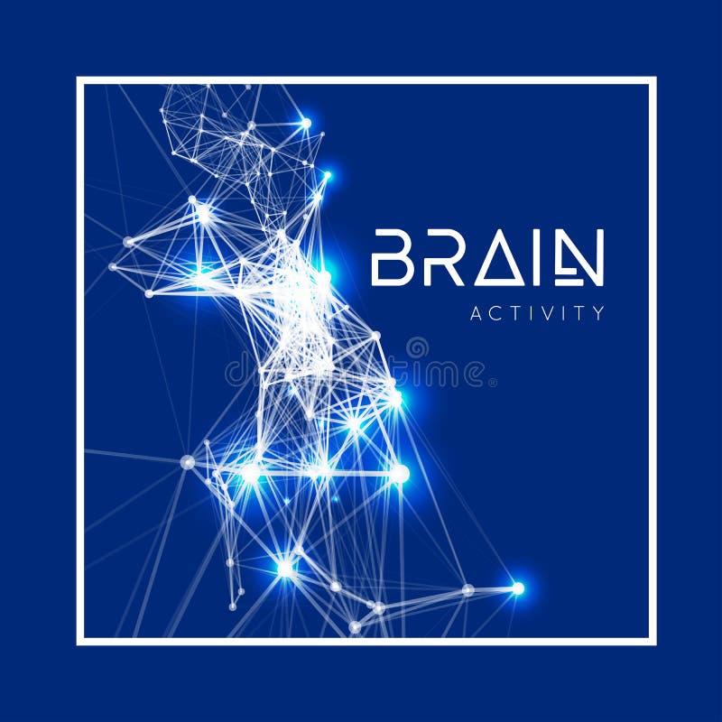 Konzept eines aktiven menschlichen Gehirns lizenzfreie abbildung