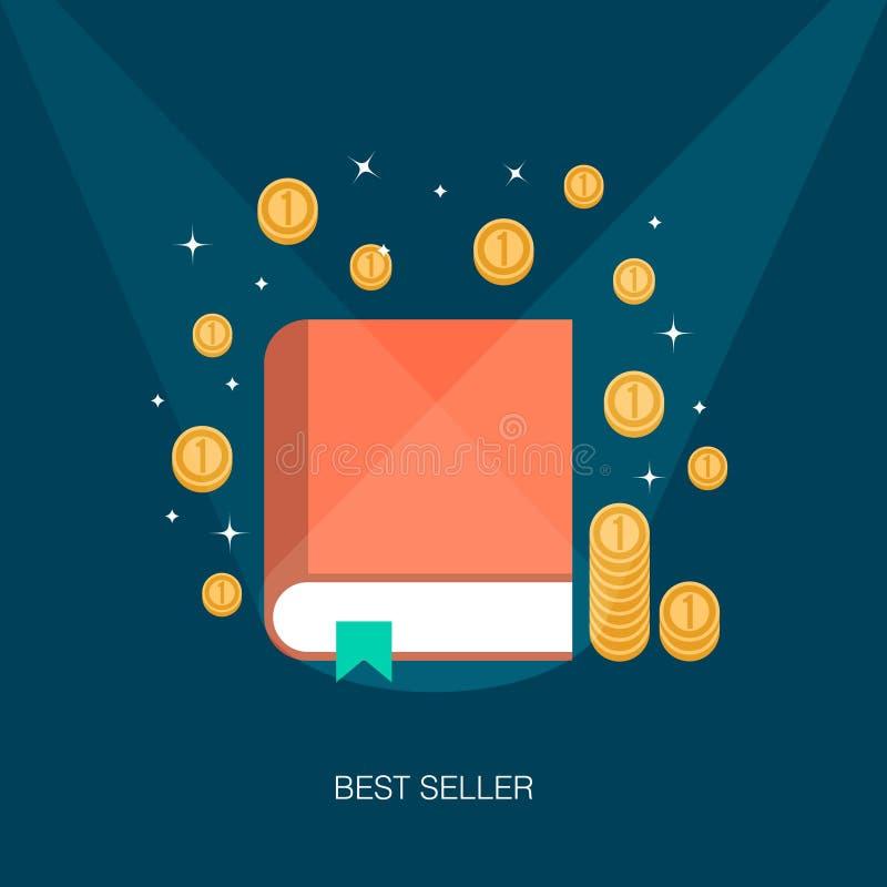 Konzept eines Bestseller- Buches stock abbildung