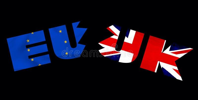 Konzept EU Großbritannien Brexit lizenzfreie abbildung