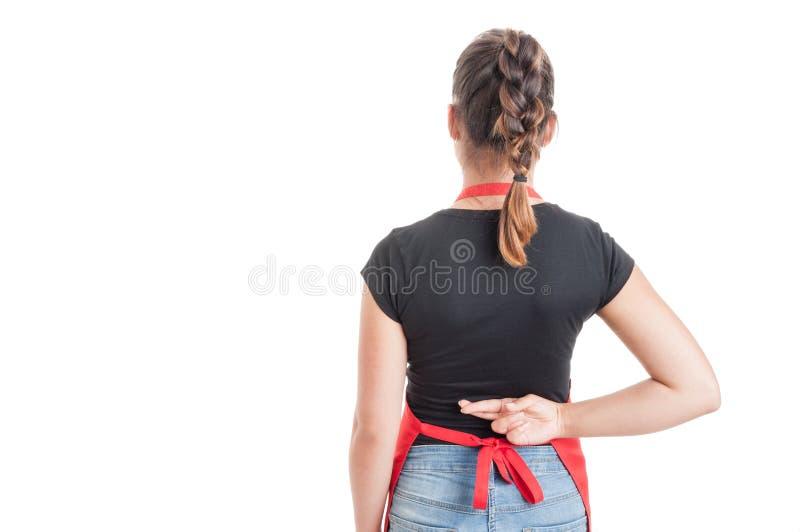 Konzept für Glück oder Unehrlichkeit mit weiblichem Angestelltem stockfoto