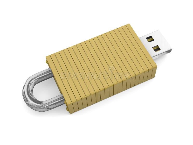 Konzept für sicheren Datenspeicher lizenzfreies stockbild