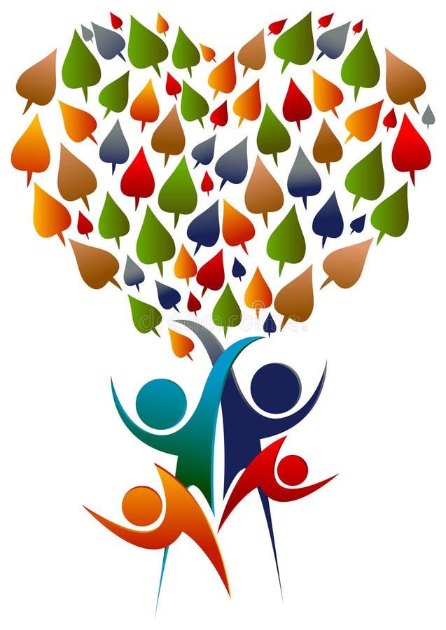 Konzept für Stammbaum, natürliches Leben, eco freundlich vektor abbildung