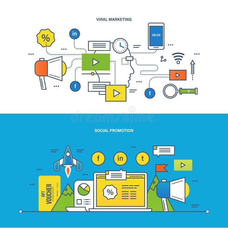 Konzept - Informationstechnologie, Promo, Strategie, Medien, Lernen und Bildung lizenzfreie abbildung