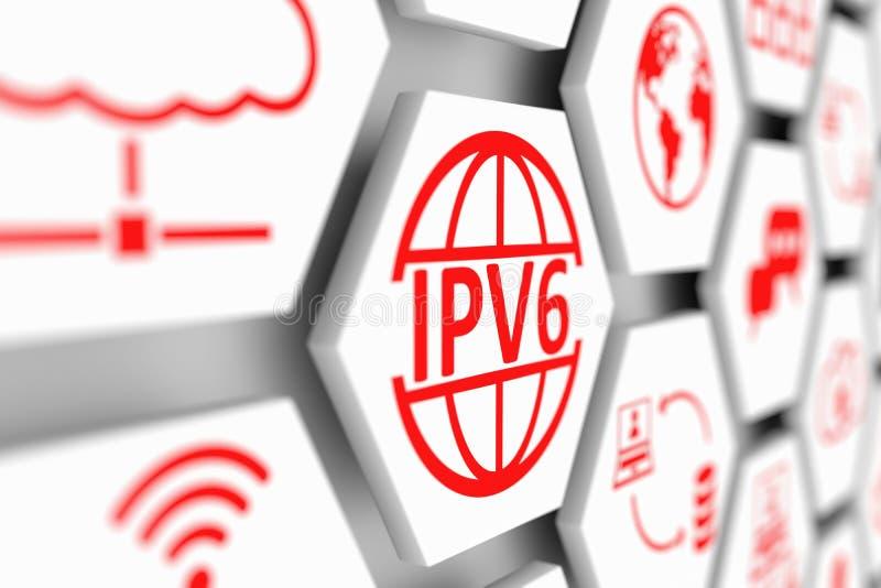 Konzept Ipv6 lizenzfreie abbildung