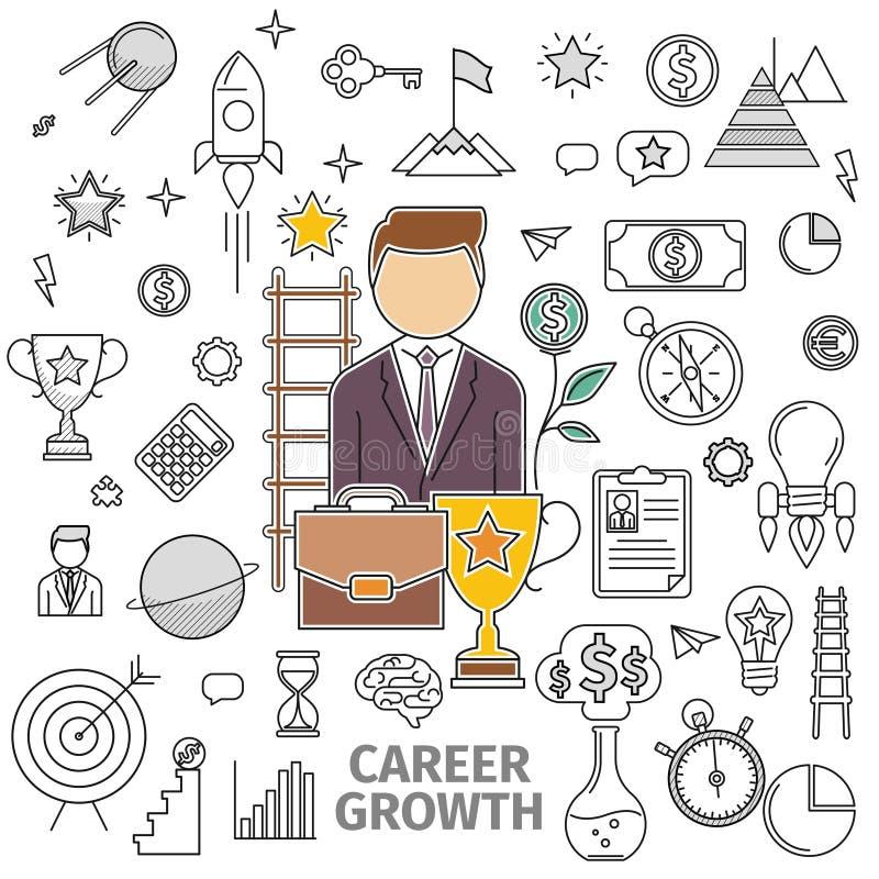 Konzept-Karriere-Wachstum lizenzfreie abbildung