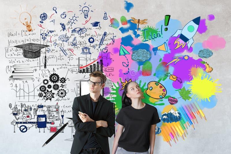 Konzept kreativen und analytischen Denkens stockfotografie