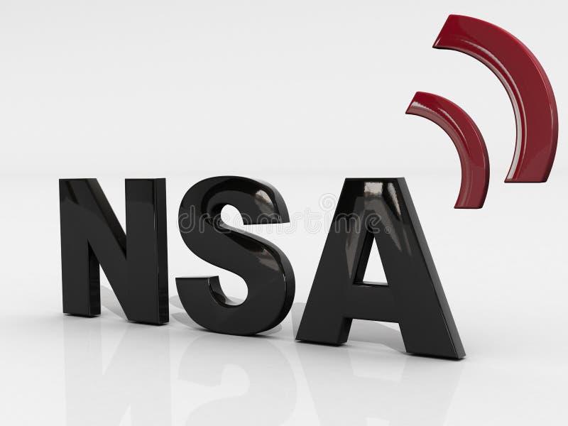 Konzept 3 NSA 3D stockbild