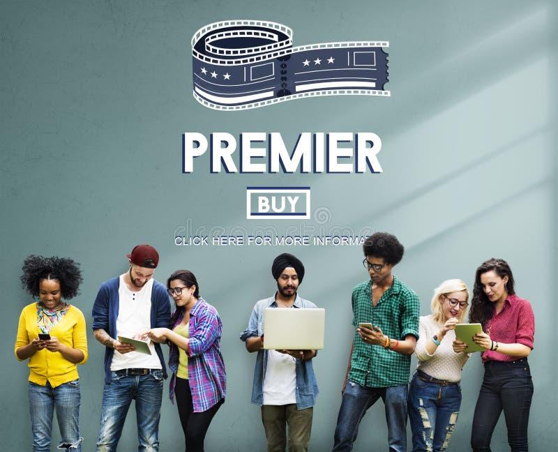 Konzept Premier-Award Exclusive Luxury Performance lizenzfreies stockfoto