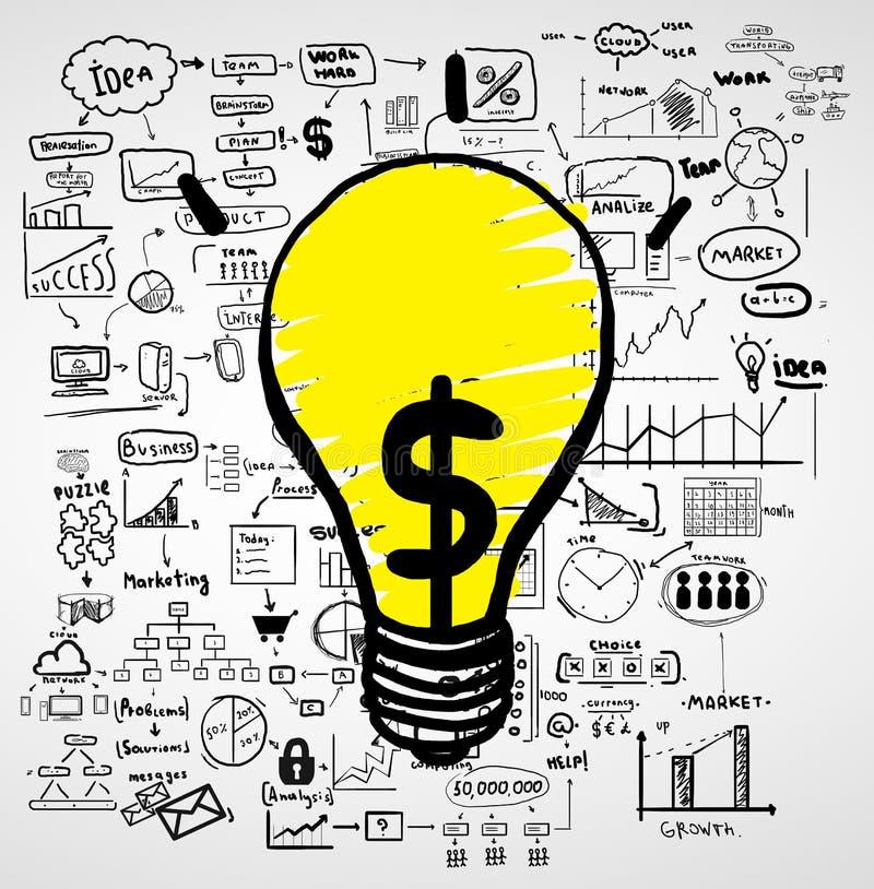 Konzept und Lampe lizenzfreie abbildung