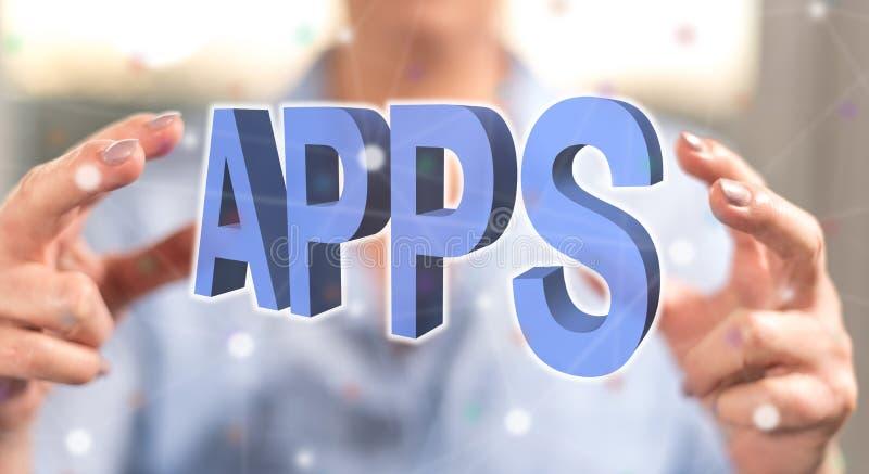 Konzept von apps lizenzfreies stockbild