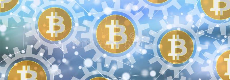 Konzept von bitcoin stock abbildung