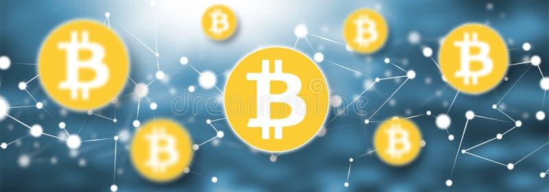 Konzept von bitcoin Währung lizenzfreie abbildung