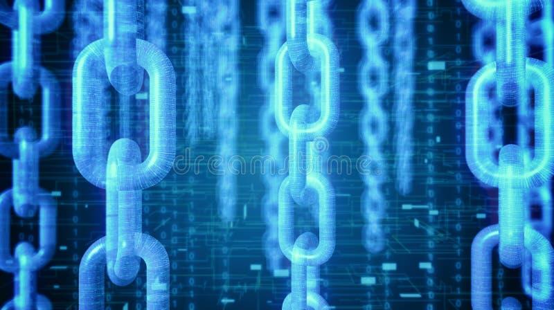 Konzept von blockchain Technologie und cryptocurrencies vektor abbildung