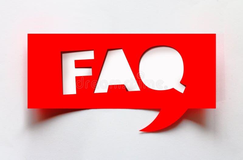 Konzept von FAQ stockbilder