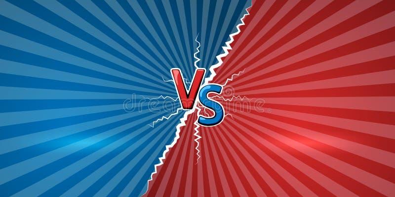 Konzept von gegen Schablone des Designs für gegen, der Konfrontation, des Wettbewerbs oder der Herausforderung GEGEN Buchstaben a vektor abbildung