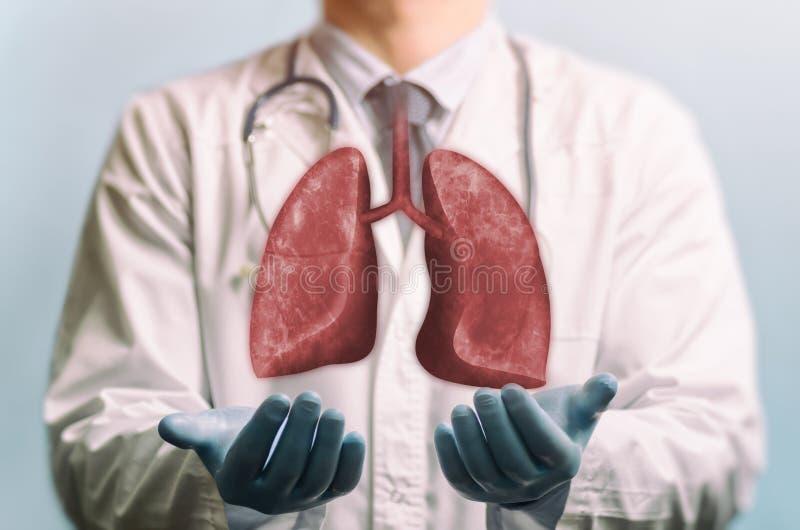 Konzept von gesunden Lungen stockbilder