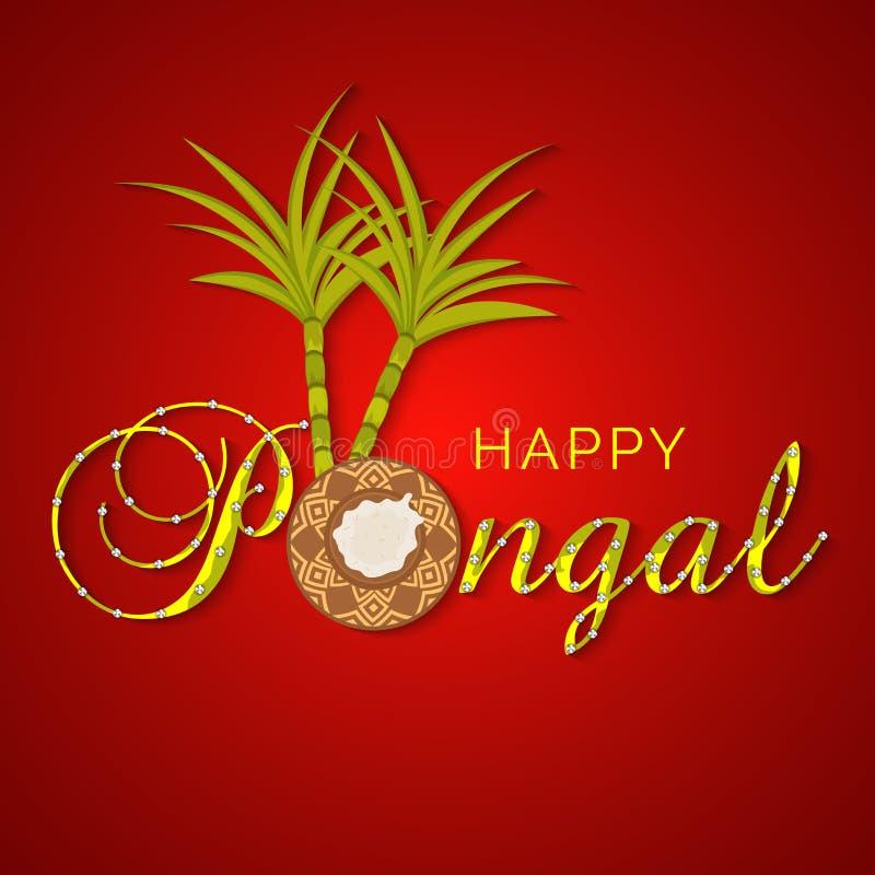 Konzept von indisches Südfestival glücklichen Pongal-Feiern lizenzfreie abbildung