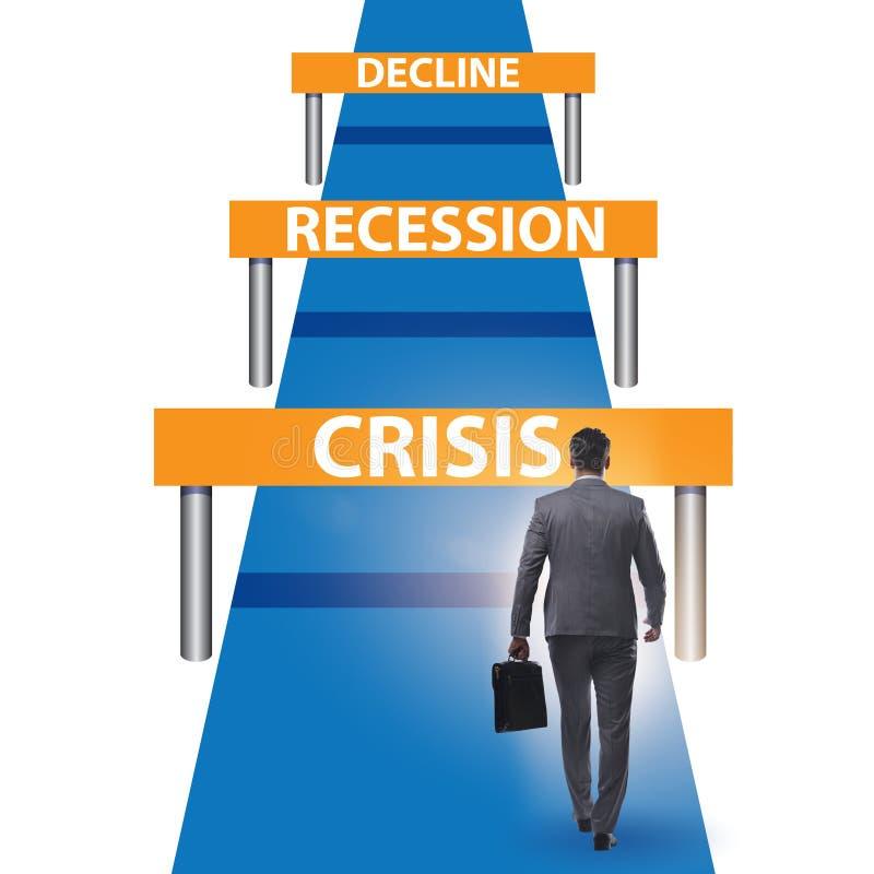 Konzept von Krise und Rezession und Herausforderungen lizenzfreies stockfoto
