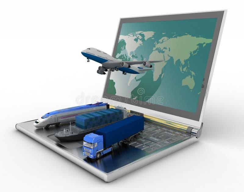 Konzept von Logistik lizenzfreie abbildung