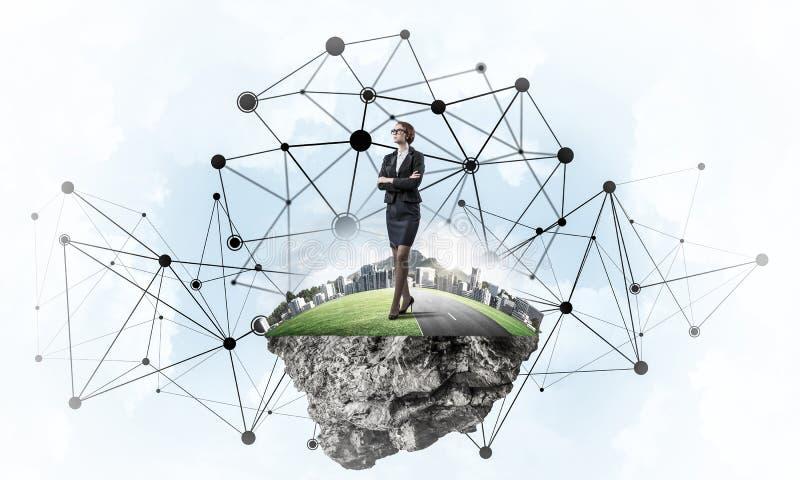 Konzept von modernen drahtlosen Technologien als effektivem Werkzeug für Geschäft lizenzfreies stockfoto