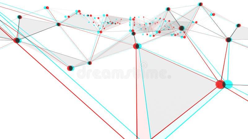 Konzept von Netzen, von Technologie oder von Geschäft lizenzfreie abbildung