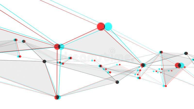 Konzept von Netzen, von Technologie oder von Geschäft vektor abbildung