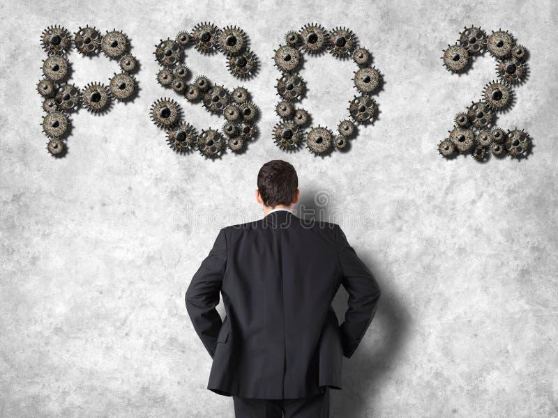 Konzept von PSD2 - Zahlung hält Richtlinie instand stockfoto
