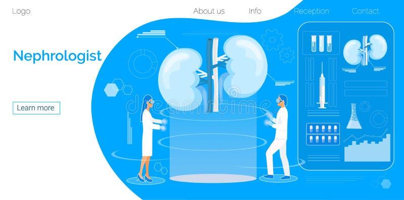 Konzept von Pyelonephritis und von Nierensteinen, Blasenkatarrh, urolithiasis, nephroptosis, Nierenversagen lizenzfreie abbildung
