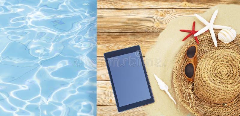 Konzept von Sommerferien lizenzfreie stockbilder