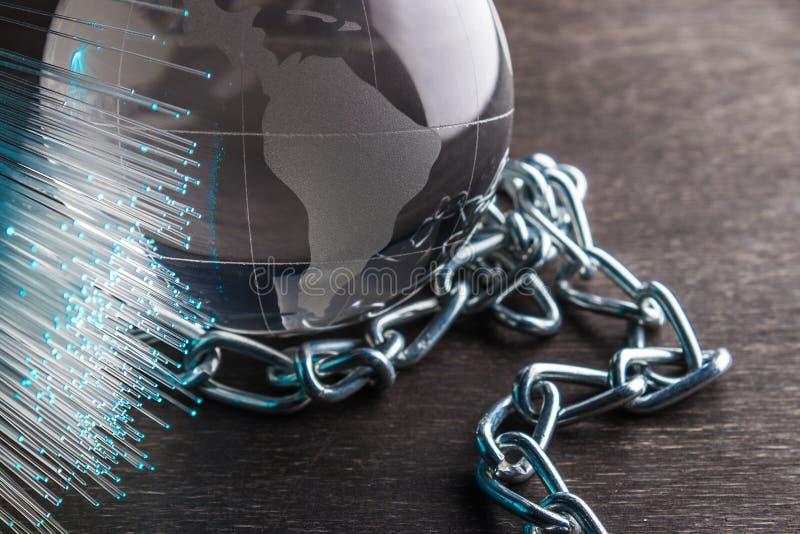 Konzept von Vertriebsnetztechnologie blockchain lizenzfreie stockfotos