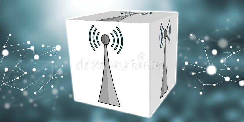 Konzept von wifi Signal stock abbildung