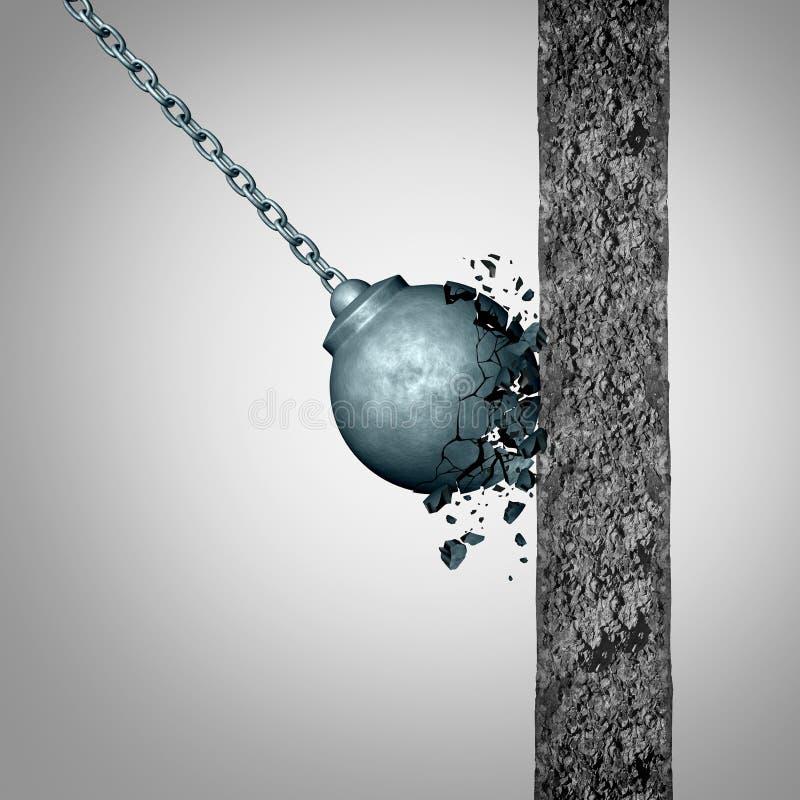 Konzept von Zerbrechlichkeit und von Stärke lizenzfreie abbildung