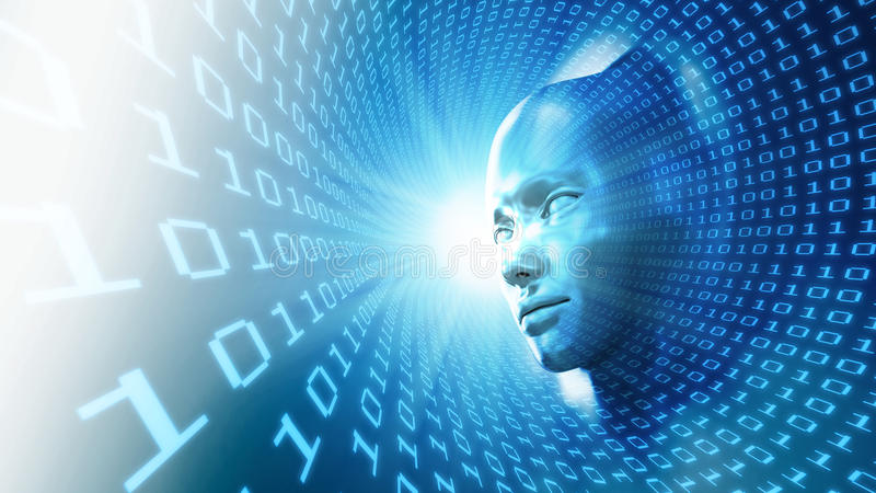 Konzeptabbildung der künstlichen Intelligenz lizenzfreie abbildung