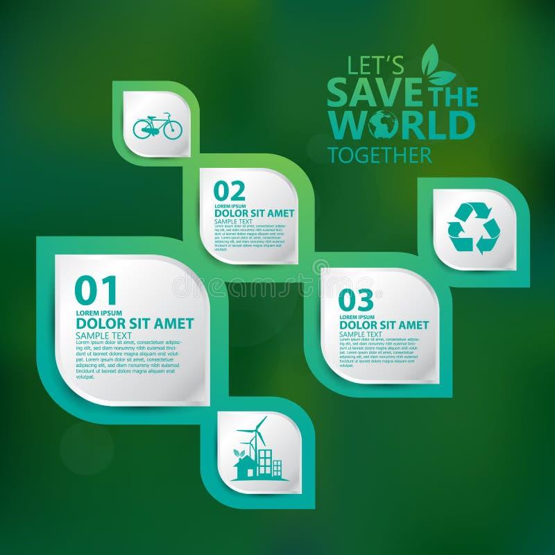 Konzeptdesign Vektor der Umwelt infographic stockbild