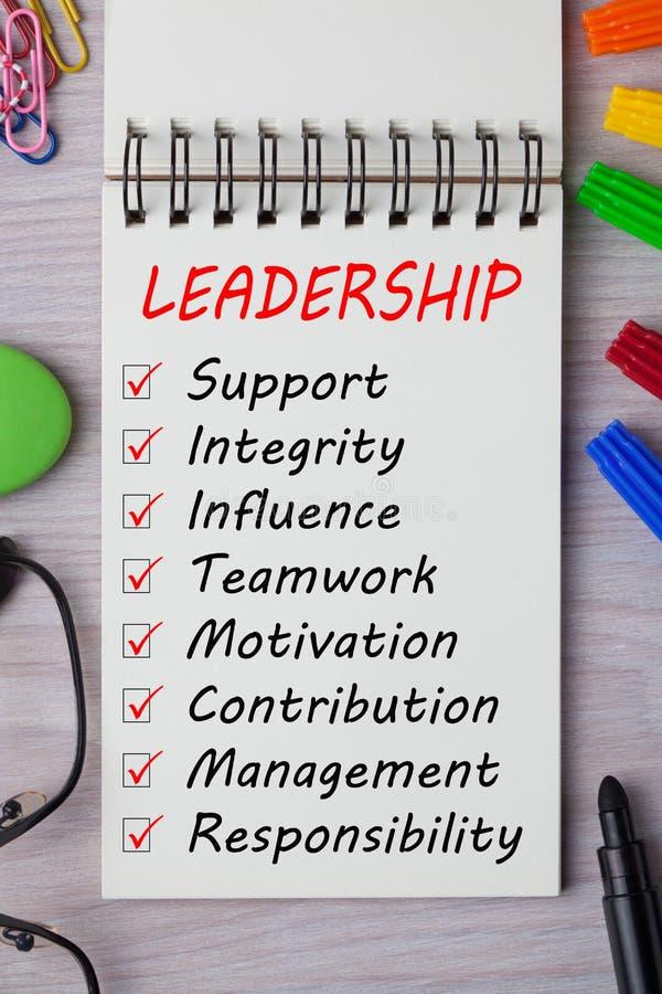 Konzepte der Führung stockbilder