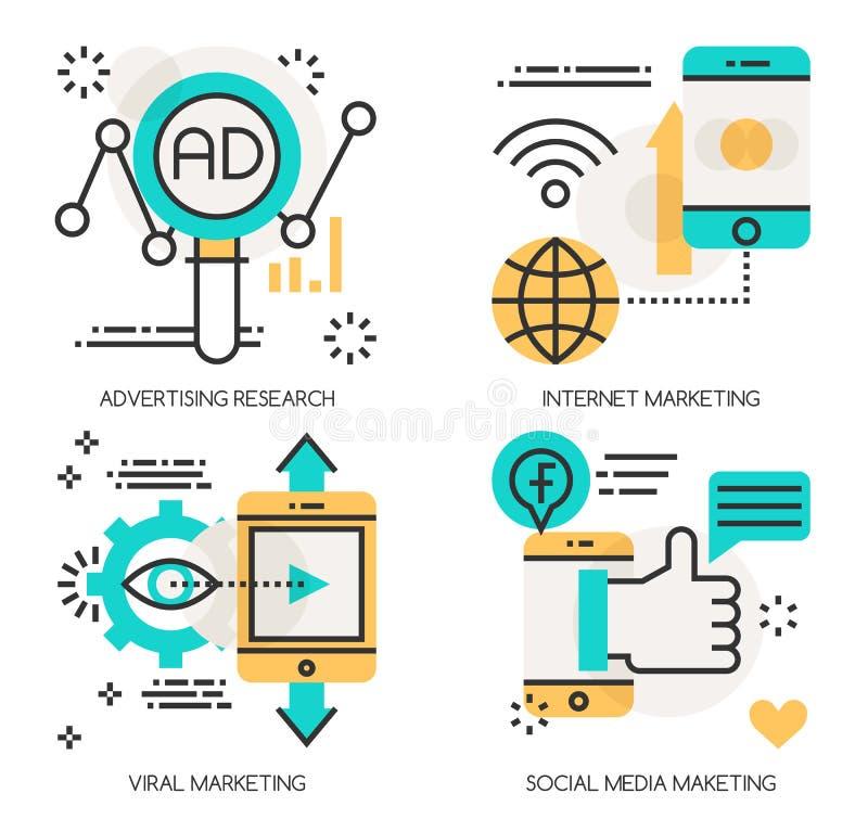 Konzepte der Werbeforschung, Internet-Marketing stock abbildung