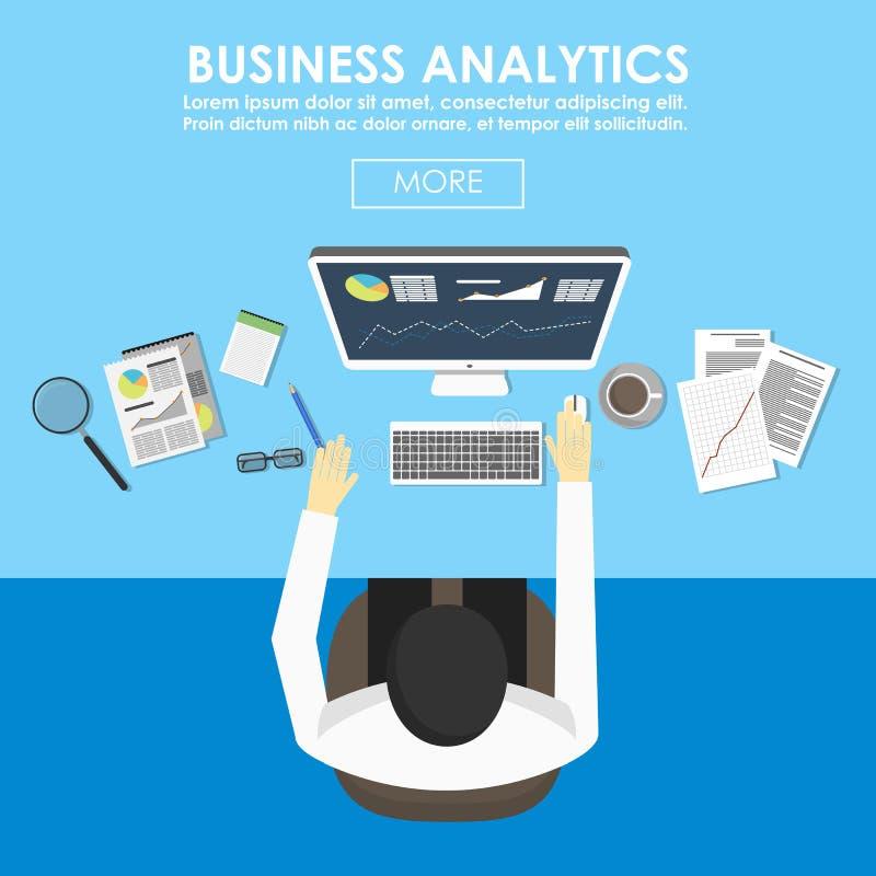 Konzepte für Wirtschaftsstatistik und Analytik stock abbildung