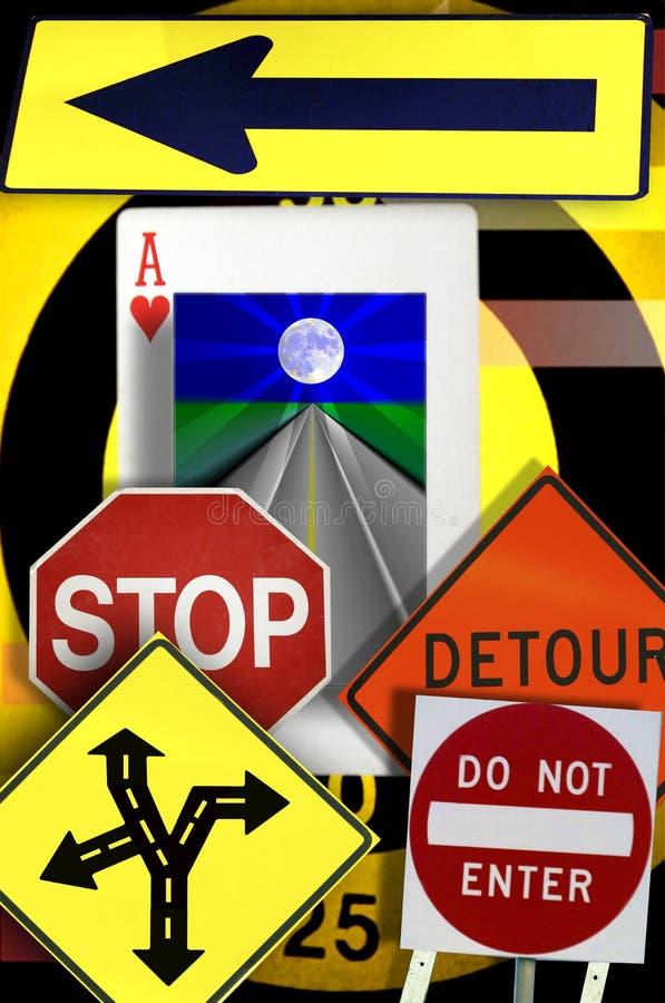Konzepte, Verkehrsschilder, Herzass stockbild