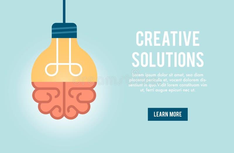 Konzeptfahne für kreative Lösung stock abbildung
