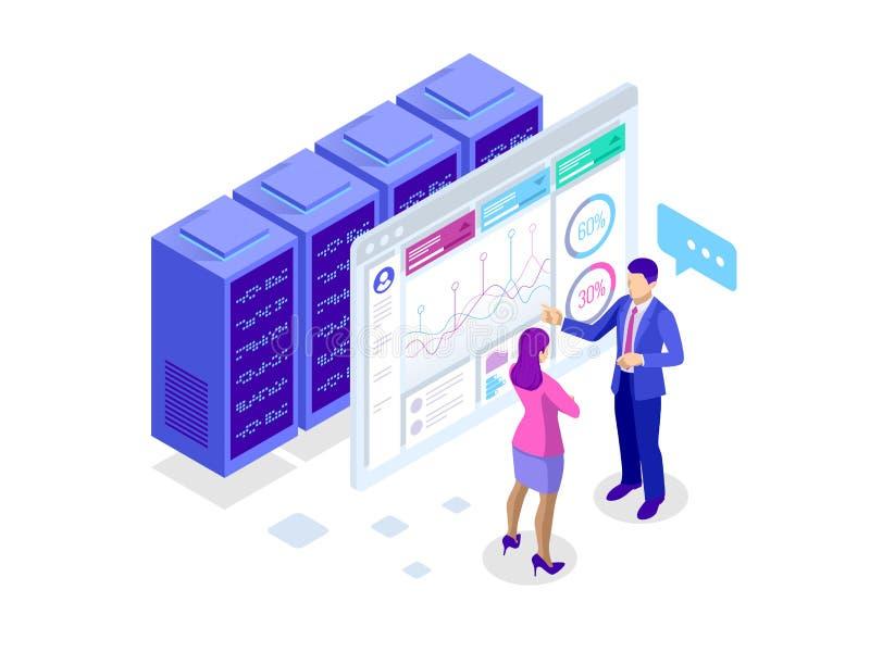 KonzeptGeschäftsstrategie Illustration von Datenfinanzdiagrammen oder von Diagrammen, Informationsdatenstatistik Computer stock abbildung