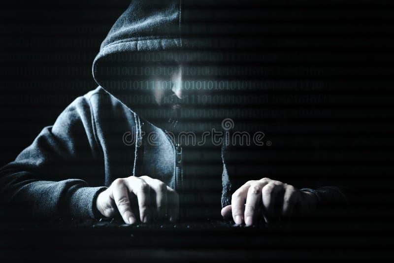 Konzepthacker- und -internet-Verbrechen stockbilder