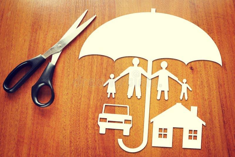 Konzeption der Versicherung stockfotografie
