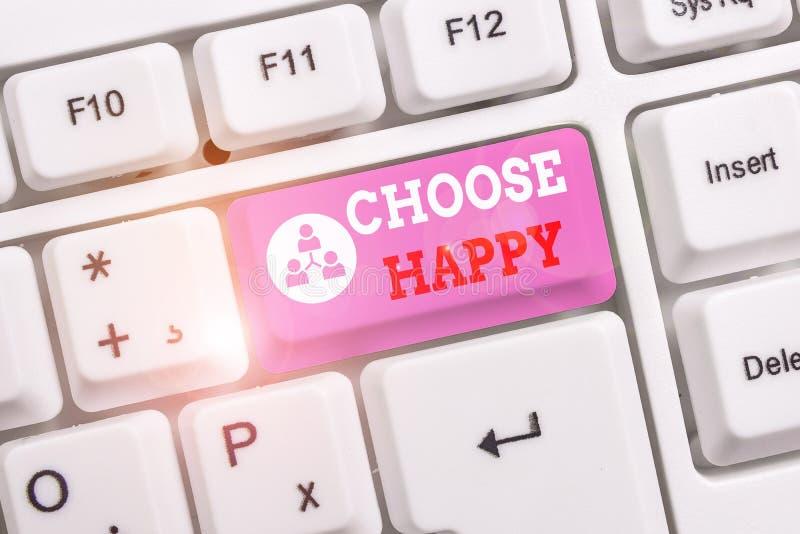 Konzeptionelle Handschrift mit dem Titel Choose Happy Business Foto Text Fähigkeit, wirkliches und nachhaltiges Glück für stockfotografie
