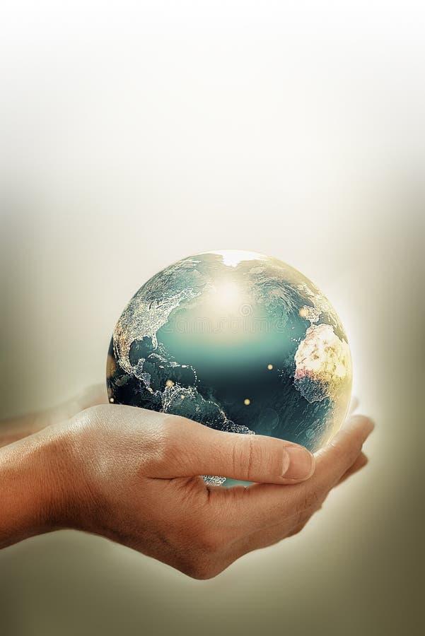 Konzeptionelles Bild des Umweltschutzes stockbild