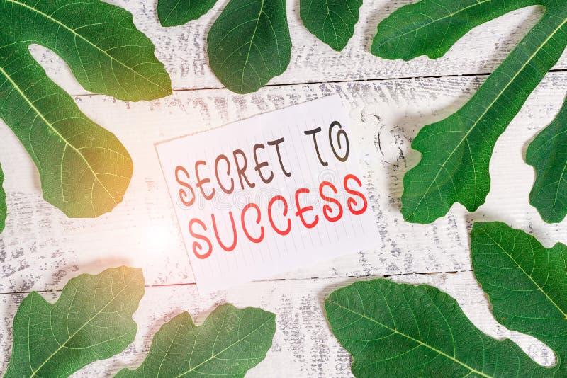 Konzeptuelle Handschrift, die Geheimhaltung zum Erfolg zeigt Geschäftsfotos zeigen unerklärtes Erreichten von Ruhm oder Ruhm lizenzfreies stockbild
